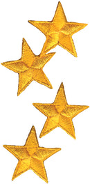 Wrights Iron-On Appliques 4/Pkg-Yellow Stars