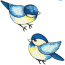 Wrights Iron-On Appliques 2/Pkg-Blue Birds