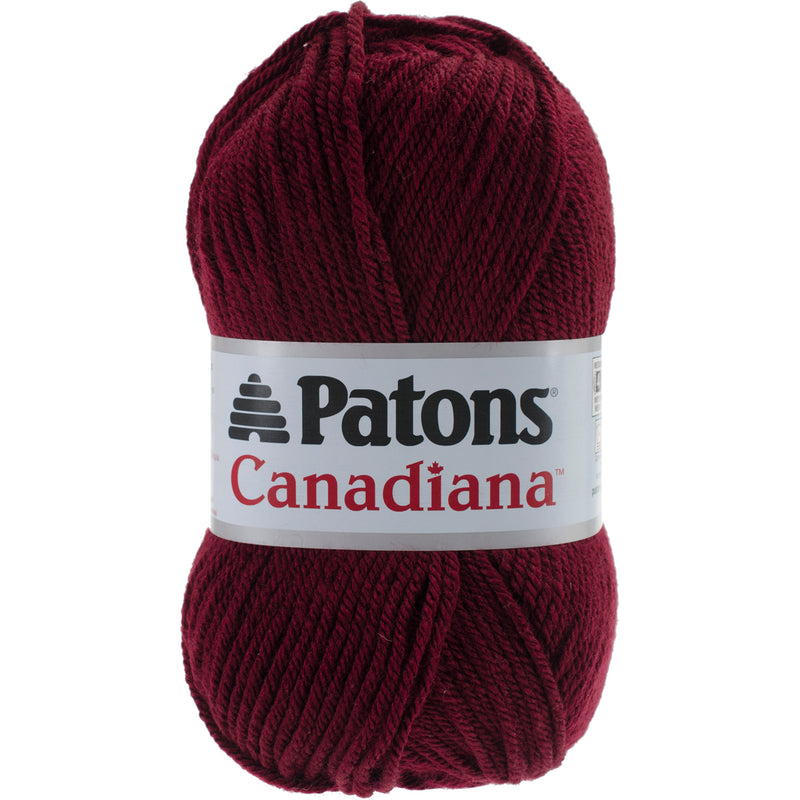 Patons Canadiana Yarn - Solids-Burgundy - Pens N More