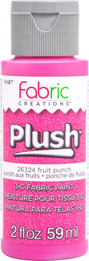 Fabric Creations Plush 3D Fabric Paint 2oz-Fruit Punch
