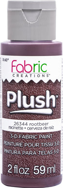 Fabric Creations Plush 3D Fabric Paint 2oz-Rootbeer