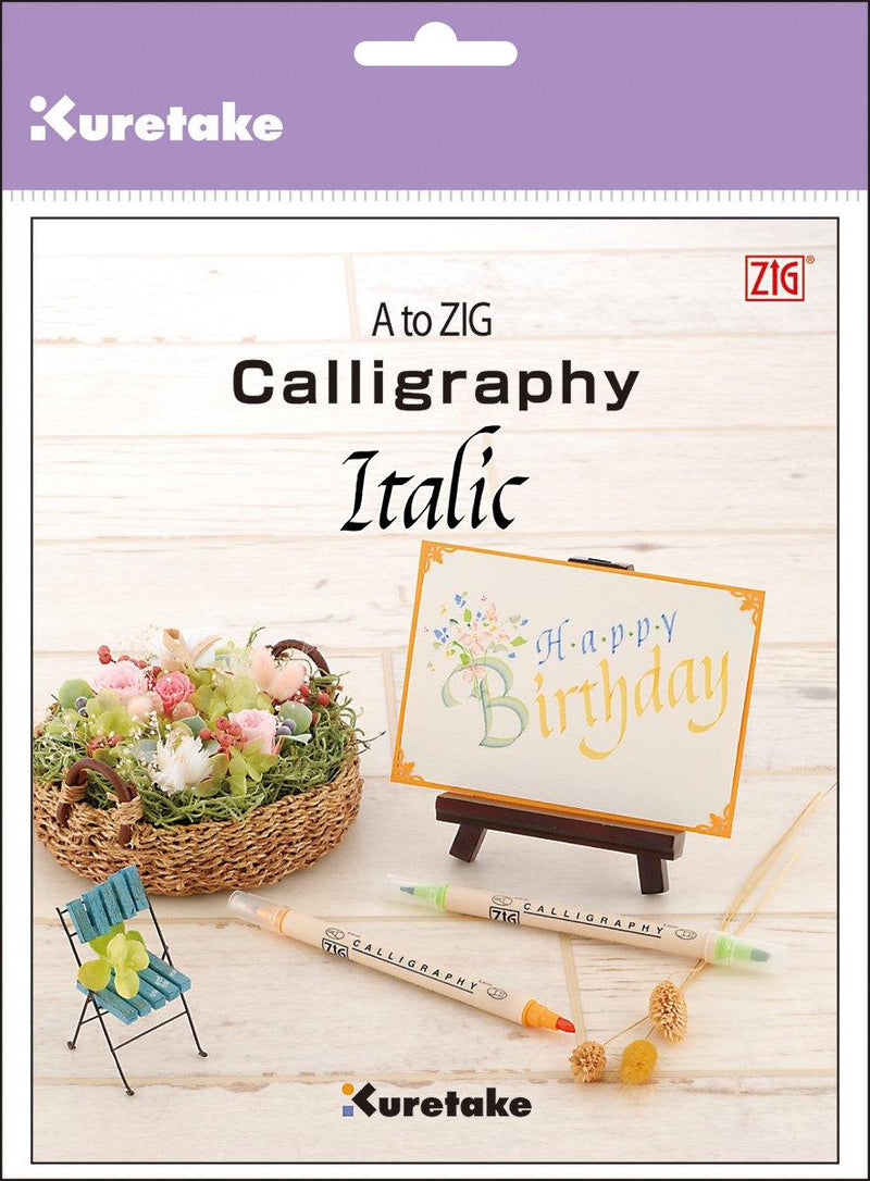 A To ZIG Calligraphy Book-Italic