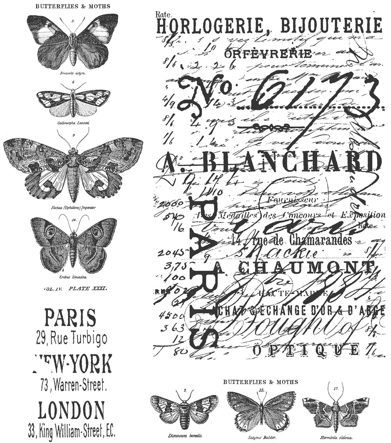 "Tim Holtz Cling Stamps 7""X8.5""-Papillon"