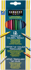 Triangular Colored Pencils 12/Pkg- - Pens N More