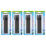 Paper Mate Eraser Mate Stick Ball Point Pen, 1.0mm, Medium Point, Black Ink, 12-Count