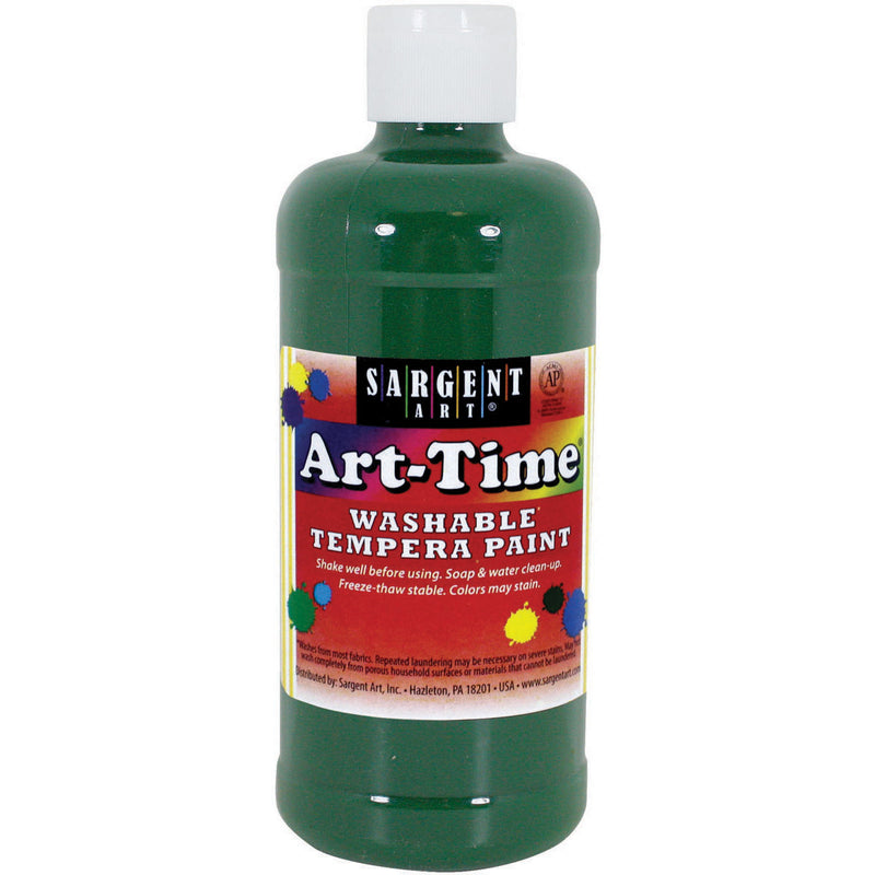 Washable Art-Time(R) Tempera Paint 16oz-Green - Pens N More