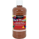 Washable Art-Time(R) Tempera Paint 16oz-Brown - Pens N More