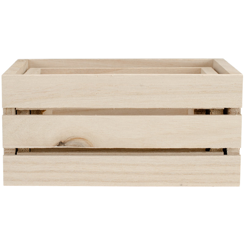 Multicraft Wood Craft Crate Caddy Set 3/Pkg-