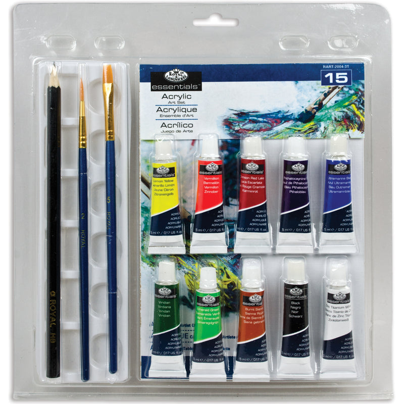 Clamshell Art Sets-Acrylic Painting 15/Pkg - Pens N More