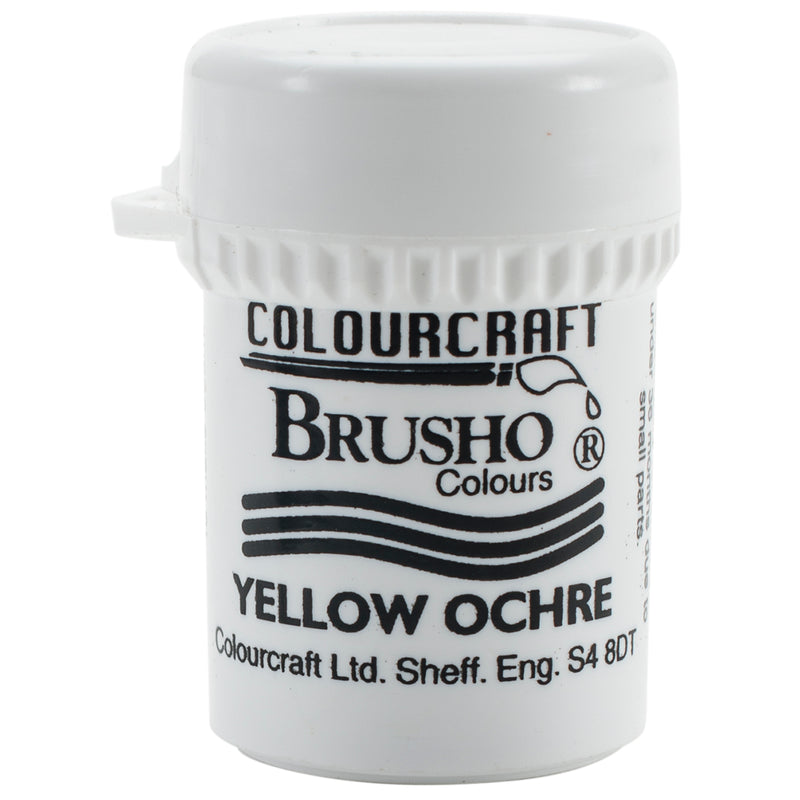 Brusho Crystal Colour 15g-Yellow Ochre