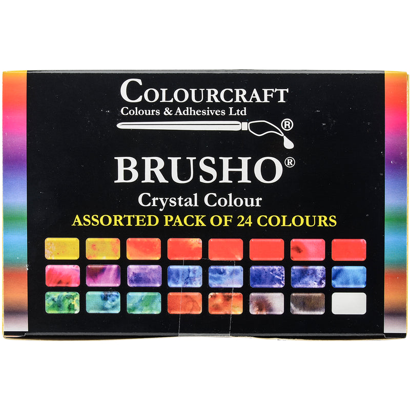 Brusho Crystal Colours Set 24/Pkg-Assorted Colors