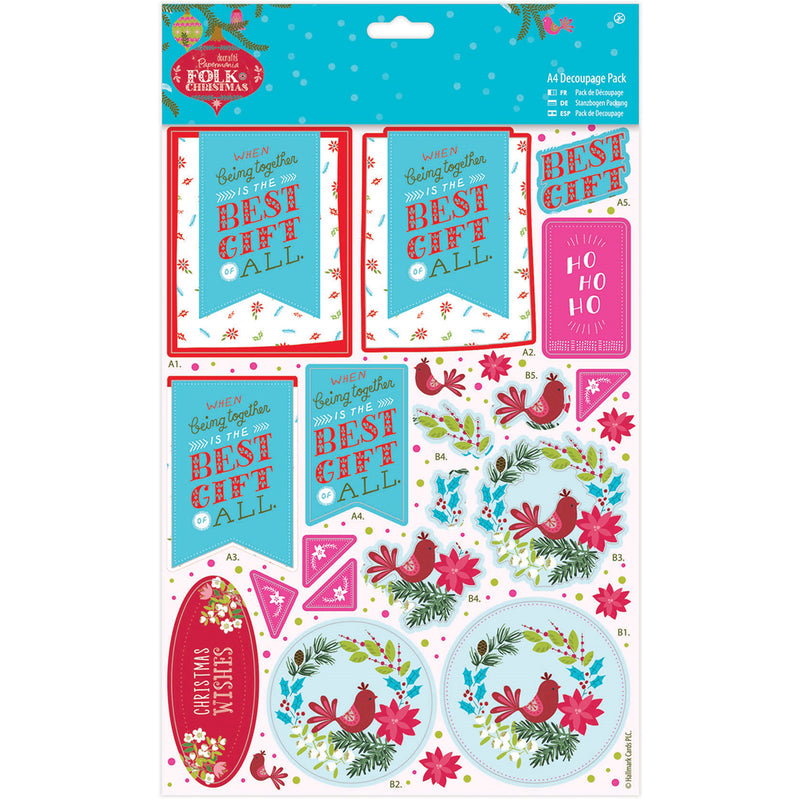 Papermania Folk Christmas A4 Decoupage Pack-Best Gift - Pens N More