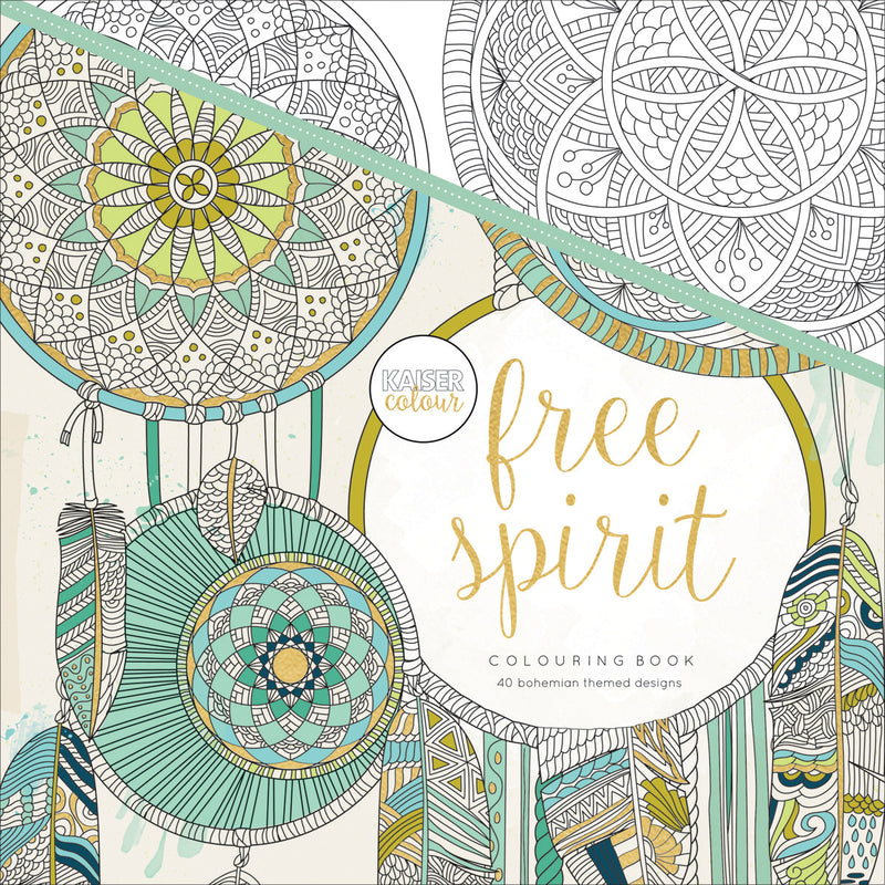 "KaiserColour Perfect Bound Coloring Book 9.75""X9.75""-Free Spirit - Pens N More"