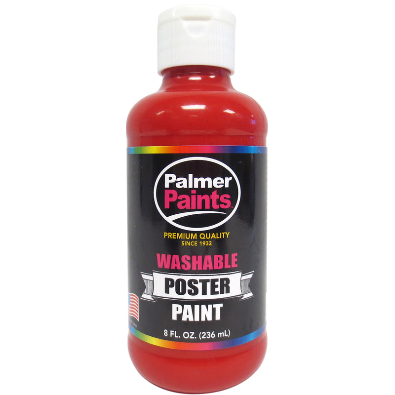 Washable Poster Paint 8oz-Red