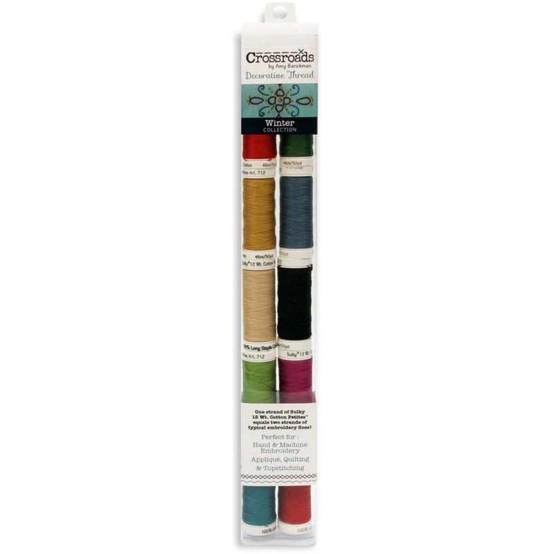 Crossroads Sulky Cotton Petites 12 Weight 10/Pkg-Winter Collection - Pens N More
