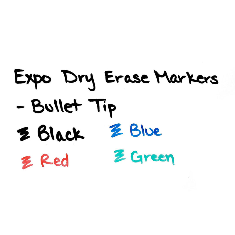 Expo Low Odor Dry Erase Markers, Bullet Point, Green Ink, Pack of 12
