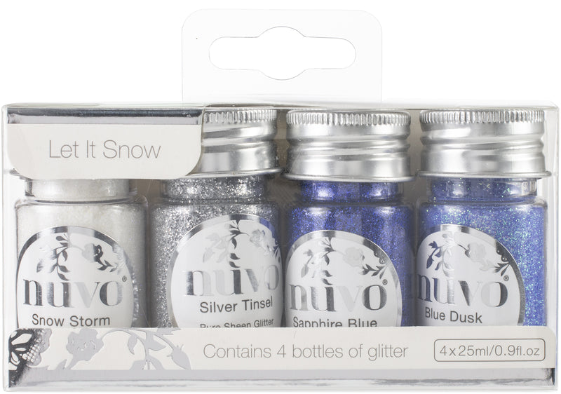 Nuvo Pure Sheen Glitter 4/Pkg-Let It Snow - Pens N More