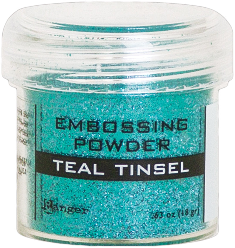 Ranger Embossing Powder-Teal Tinsel
