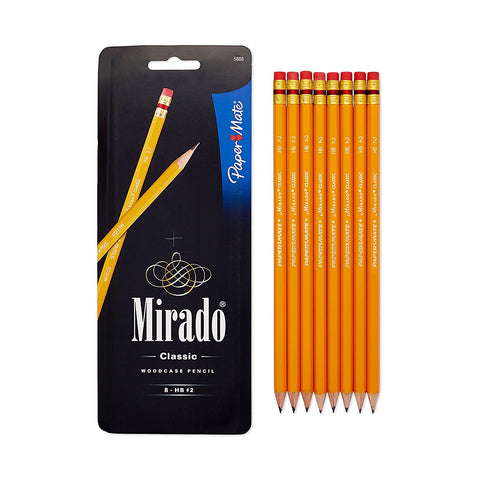 Paper Mate Mirado #2 Classic Cedar Pencils, 8 Pre-Sharpened Pencils (5888)
