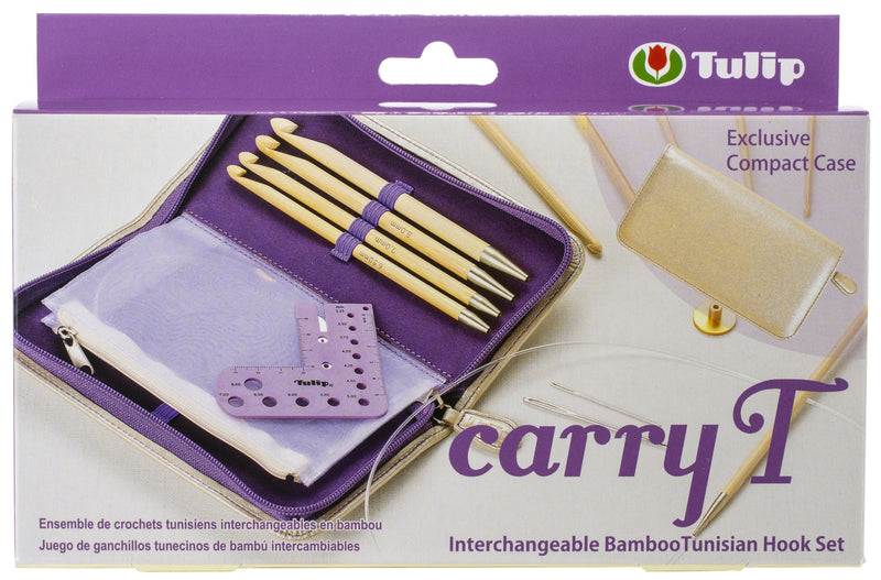 Tulip Carry T Interchangeable Bamboo Tunisian Hook Set-W/Case - Pens N More