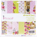 "Dress My Crafts Single-Sided Paper Pad 12""X12"" 24/Pkg-Whimsical Hues, 12 Designs/2 Each - Pens N More"