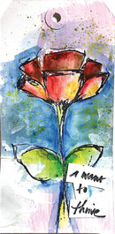 "Dina Wakley Media Cling Stamps 6""X9""-Always Flowers"