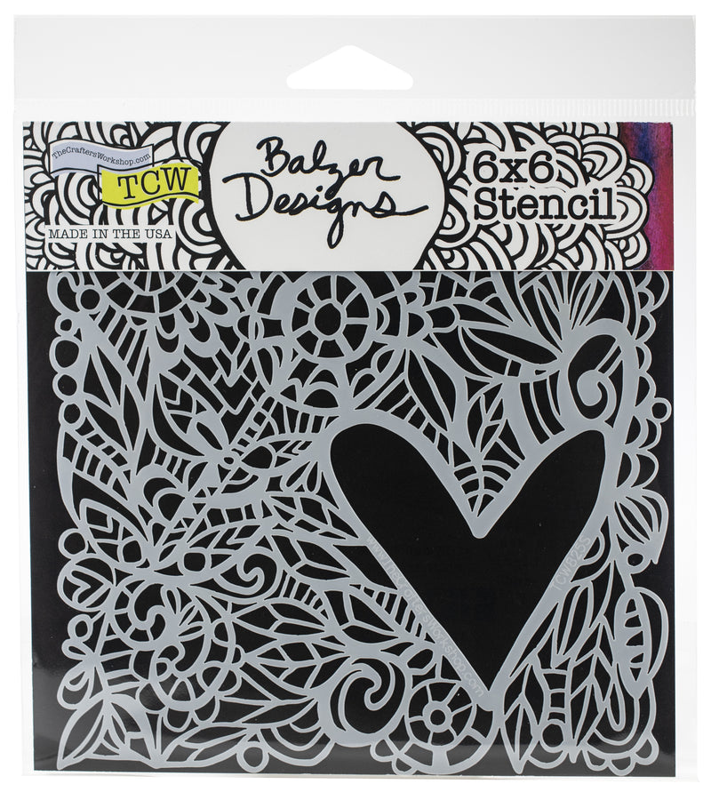 "Crafter's Workshop Template 6""X6""-Love Frame - Pens N More"