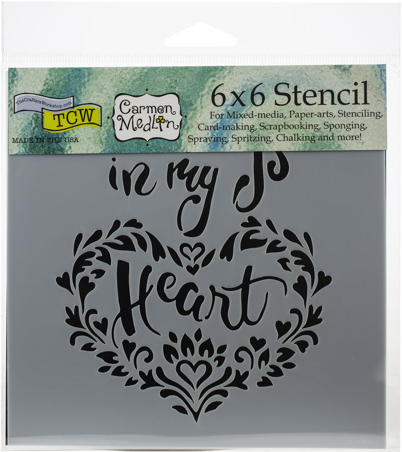 "Crafter's Workshop Template 6""X6""-In My Heart - Pens N More"