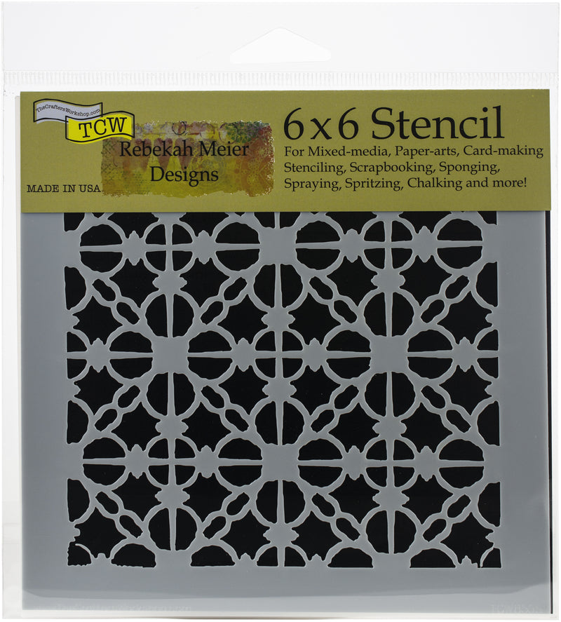 "Crafter's Workshop Template 6""X6""-Linked Tiles - Pens N More"
