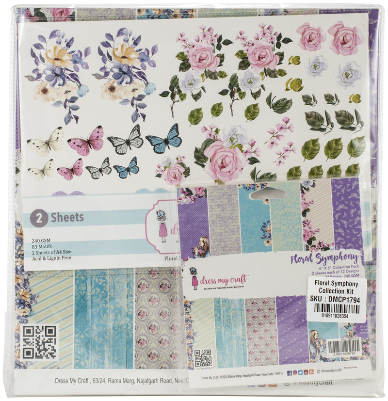 Dress My Crafts Collection Kit -Floral Symphony - Pens N More