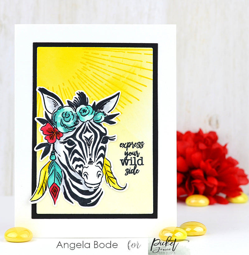 Picket Fence Studios Steel Dies-Boho Zebra - Pens N More