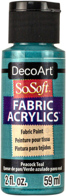 SoSoft Fabric Acrylic Paint 2oz-Peacock Teal