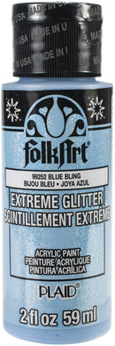 FolkArt Extreme Glitter Paint 2oz-Blue Bling - Pens N More