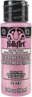 FolkArt Extreme Glitter Paint 2oz-Pink Pizzazz - Pens N More