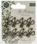 Craft Consortium The Herbarium Metal Charms 8/Pkg-Brass Herb Scissors - Pens N More