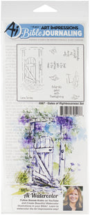 Art Impressions Bible Journaling Watercolor Rubber Stamps-Gates Of Righteousness - Pens N More