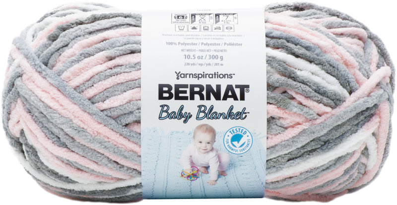 Bernat Baby Blanket Big Ball Yarn-Baby Grays - Pens N More