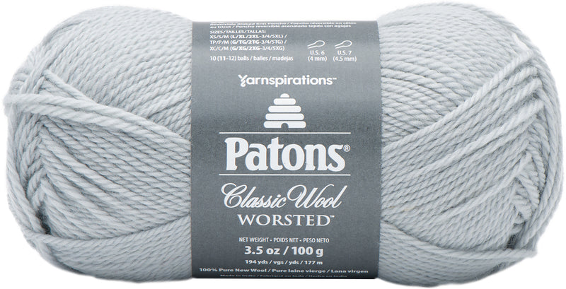Patons Classic Wool Yarn-Cool Gray - Pens N More