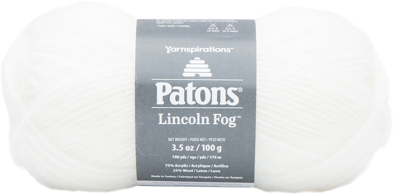 Patons Lincoln Fog Yarn-White - Pens N More