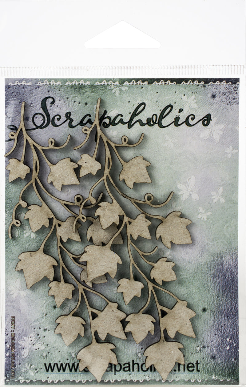 "Scrapaholics Laser Cut Chipboard 1.8mm Thick-Ivy Vine Spray, 2/Pkg, 4""X1.75"" - Pens N More"