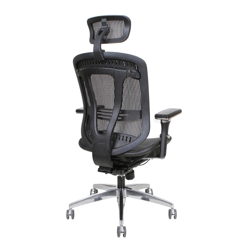 Thornton's Office Supplies ErgoExec High Back Mesh Executive Swivel Office Chair, Black