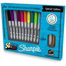 Sharpie Special Edition Permanent Markers, Fine Point, Assorted Colors, Set of 12