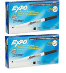 Expo Original Ink Dry Erase Markers, Fine Point, Black Ink, 24-Count