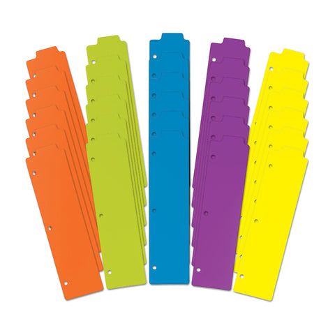 Avery Snap-In Plastic Bookmark Dividers, 5 Tabs, 30 set, Multicolor (24908)
