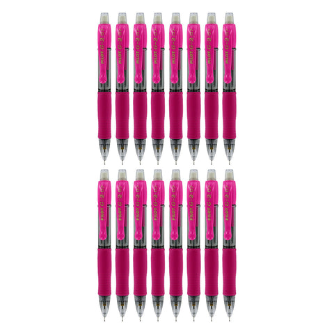 Pilot G2 Mini Retractable Mechanical Pencils, 0.7mm HB, Pink Barrel, Pack of 12