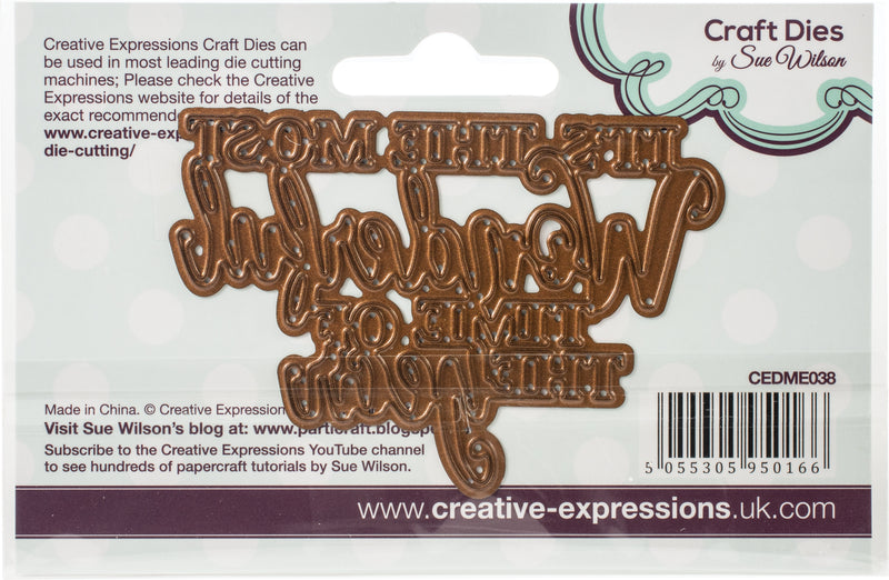 Creative Expressions Festive Craft Dies By Sue Wilson-Mini Expressions-Wonderful Time Of Year - Pens N More