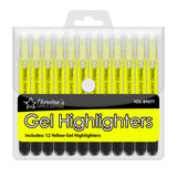 Thornton's Office Supplies Twist-Retractable Bible Gel Highlighters, Yellow, Pack of 12