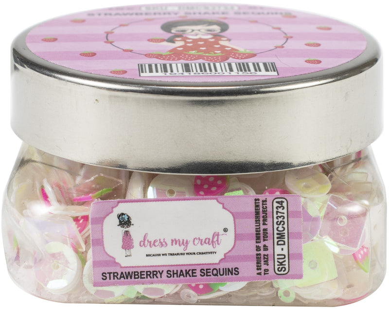 Dress My Craft Sequins 25gms-Strawberry Shake - Pens N More