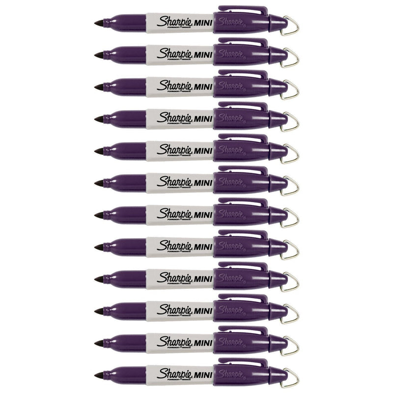 Sharpie Mini Permanent Marker, Fine Point, Valley Girl Violet, Pack of 144