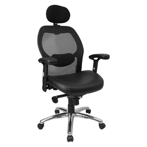 high back black super mesh executive swivel office chair with
